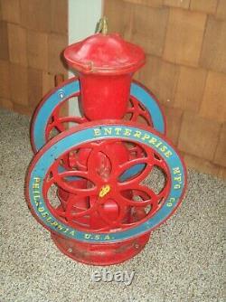 1898 Enterprise Cast Iron Hand Crank Grinder Antique Coffee Grinder / Swift Mill