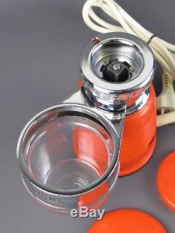 1970 Quick MILL Omre Vintage Coffee Grinder Macina Caffe' Design Arancione