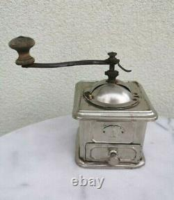 19th Antique Old Metal Coffee Mill / Grinder By Fabrik Marke Made in Germany