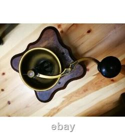 19th Antique Wooden Coffee Mill / Grinder With Copper By Fabrik Marke Germany