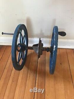 2 Antique Enterprise Coffee Grinder Wheels12.5 FOR PARTS REPAIR Restore