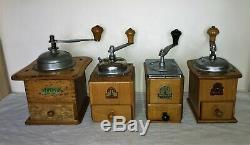 4 Molino de café de la firma alemana Armin Trösser. H. T. Antique Coffee grinder
