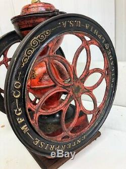 ALL ORIGINAL Antique Cast Iron Enterprise No. 7 Coffee Grinder / Mill