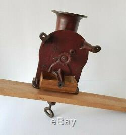 ANT. CAST IRON COFFEE GRINDER WALL OR TABLE MOUNTED MODEL Early 1900's