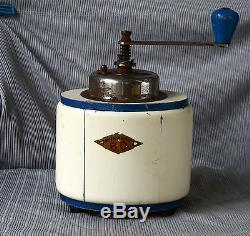 ANTIQUE 1940`s VERY RARE Czechoslovakia B. O. GARANTIE WOODEN COFFEE GRINDER MILL