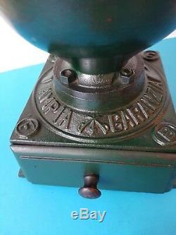 ANTIQUE CAST IRON BALANCE WHEEL COFFEE GRINDER AMPIA GARANZIA FB 2 ITALY 1900's