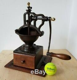 ANTIQUE CAST IRON COFFEE GRINDER PEUGEOT A1 Early 1900's BEAUTIFULL CONDITION