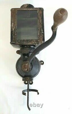 ANTIQUE EARLY 1900s N. C. R. A. WALL MOUNT COFFEE GRINDER FOR PARTS / RESTORATION