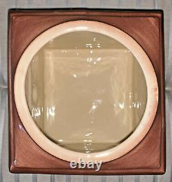 ANTIQUE MCCOY McCOY Mc COY COOKIE JAR (ICE CREAM CHURN / COFFEE GRINDER DESIGN)