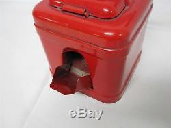 ANTIQUE MEAMS w HOLLAND WINDMILL LABEL RED TIN COFFEE GRINDER