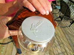 ANTIQUE ORIGINAL 1920's ARCADE CRYSTAL #3 COFFEE GRINDER COFFEE MILL WORKS