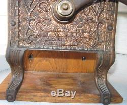 ANTIQUE RARE FASCINATING 1800s THE TELEPHONE MILL COFFEE GRINDER FREEPORT IL