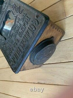 ARCADE Golden Rule Coffee Grinder Wall Mount Wood/Cast Iron
