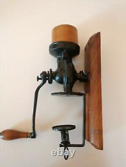 AWESOME Landers Frary Clark Universal No 24 Coffee Grinder withWall Mount