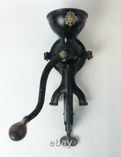 Antique 1800's Cast Iron Table Top Enterprise Mfg Co. Coffee Grinder Mill No. 0