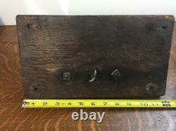 Antique 1800s COFFEE GRINDER Wall Mount Cast Iron Wood Rustic Primitive Wheat