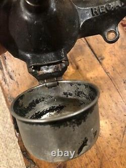 Antique 1800s Regal Wall Mount Coffee Grinder With Catch Cup- All Original