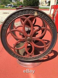 Antique 1873 Coffee Grinder Enterprise Mfg. Co. Original Paint 24 1/2 WHEELS