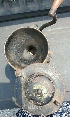 Antique 1873 Enterprise Cast Iron Coffee Grinder Model No. 1
