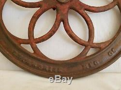 Antique 1873 Enterprise Coffee Grinder 16 Cast Iron Wheel Only with Crank Handle