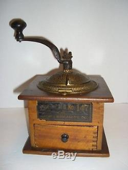 Antique 1889 Arcade Imperial Coffee Grinder Mill No. 147