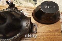 Antique 1890's ENTERPRISE MFG. CO No. 00 Wall Mounted Coffee Grinder Original Cup