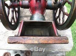 Antique 1897 Cha's Parker No. 200 Coffee Grinder 9 Wheels Cast Iron RARE