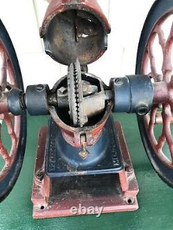 Antique 1900's Cha's Parker Coffee Mill Grinder Model 5000 12 Tall Sweet