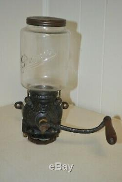 Antique 1905 Brighton Premier Wall Mount Coffee Bean Grinder