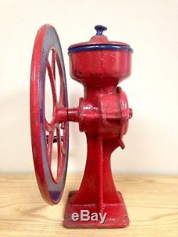 Antique #2 Single Wheel Counter Mount General Store Coffee Grinder
