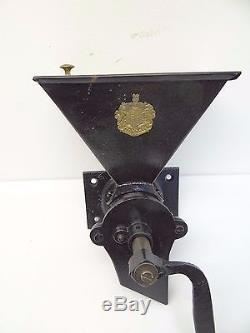 Antique A. Kenrick's & Sons No 6 Patent Black Kitchen Wall Mount Coffee Grinder