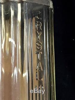 Antique ARCADE Art Deco Wall Mount Coffee Grinder Mill Crystal Cast Iron