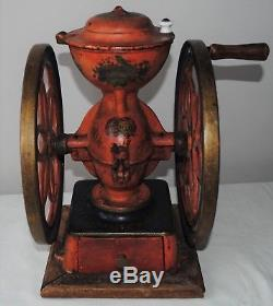 Antique American Cast Iron Coffee Grinder MILL Enterprise # 3