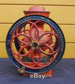 Antique American coffee grinder mill Enterprise # 5 cast iron