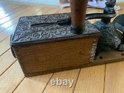Antique Arcade Bell Coffee Grinder Wall Mount RARE