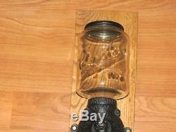Antique Arcade Coffee Grinder Wall Mount Crystal No. 3 w Angel Crown Catch Cup