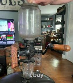 Antique Arcade Crystal Coffee Grinder