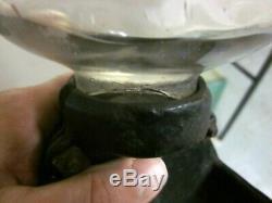 Antique Arcade Crystal Hand Crank Coffee Grinder