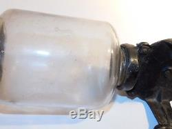 Antique Arcade Crystal No 3 Coffee Grinder Original Glass