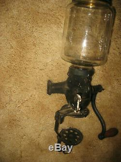 Antique Arcade Crystal No. 3 Wall Mount Coffee Grinder