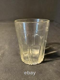 Antique Arcade Glass Coffee Grinder MILL Catch Cup For Golden Rule Bell Original