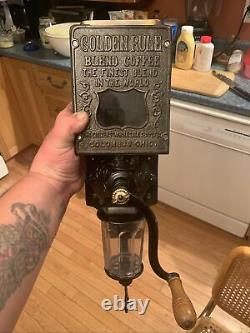 Antique Arcade Golden Rule Coffee Grinder/Mill HTF And In Gorgeous Condition