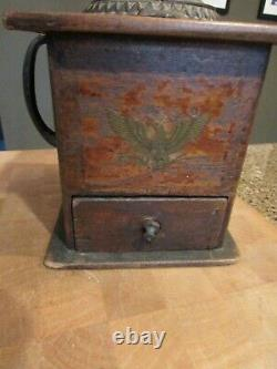 Antique Arcade Mfg Co Wood & Cast Iron Coffee Grinder Imperial Mill AWESOME