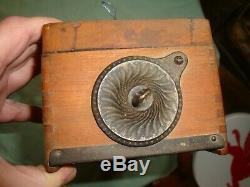 Antique Arcade X-Ray Coffee Grinder Working Condition