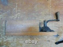 Antique Arcade X-Ray Wall Mount Glass Front Coffee Grinder Mill No. 1 #2