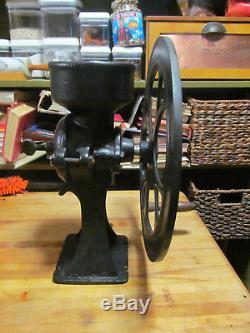 Antique Black Cast Iron Coffee Spice Grinder No 2