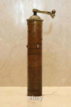 Antique Brass Turkish Coffee Grinder Islamic Arabic Script Ottoman Empire 18th C