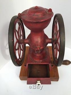 Antique CAST IRON Enterprise COFFEE GRINDER MILL Philadelphia USA