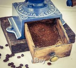 Antique CIMBALI'S AMPIA GARANZIA Coffee Grinder Mill Molinillo Moulin Cafe c1910