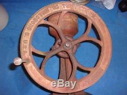 Antique Cast Iron #1 Marked Coffee Grinder Or Corn Sheller